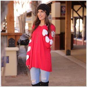 Heart Sleeve Red Tunic